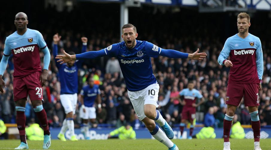 Everton beat West Ham to end losing run