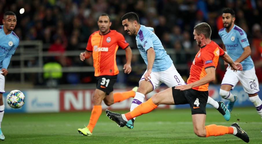 City put aside domestic slip with win at Shakhtar