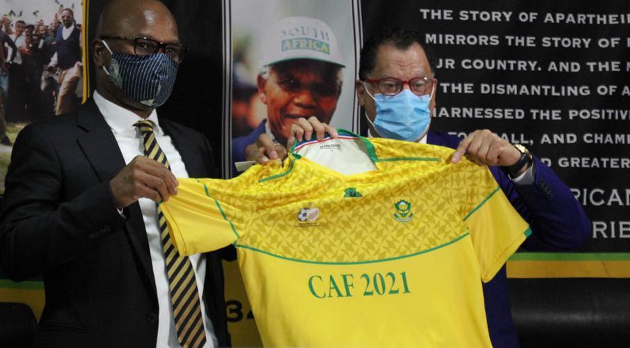 Safa explains Motsepe nomination for Caf President DannyJordaan-and-NathiMthethwa-BBP1050
