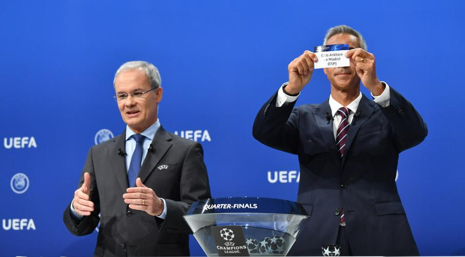 Champions League quarterfinal and semifinal draw