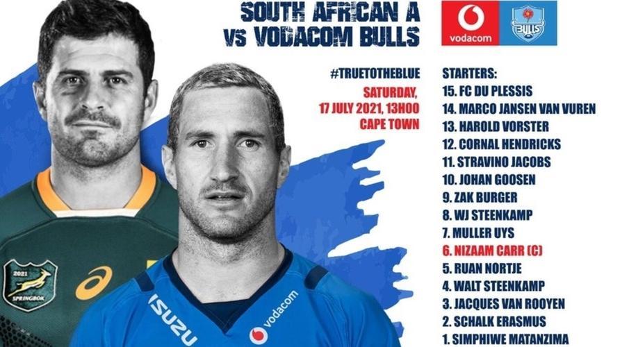 Goosen to start for Bulls v SA A - SuperSport